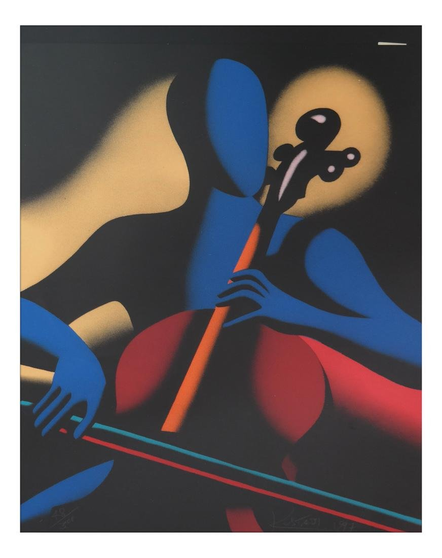 "Mark Kostabi ""The Cellist"" - Serigraph"