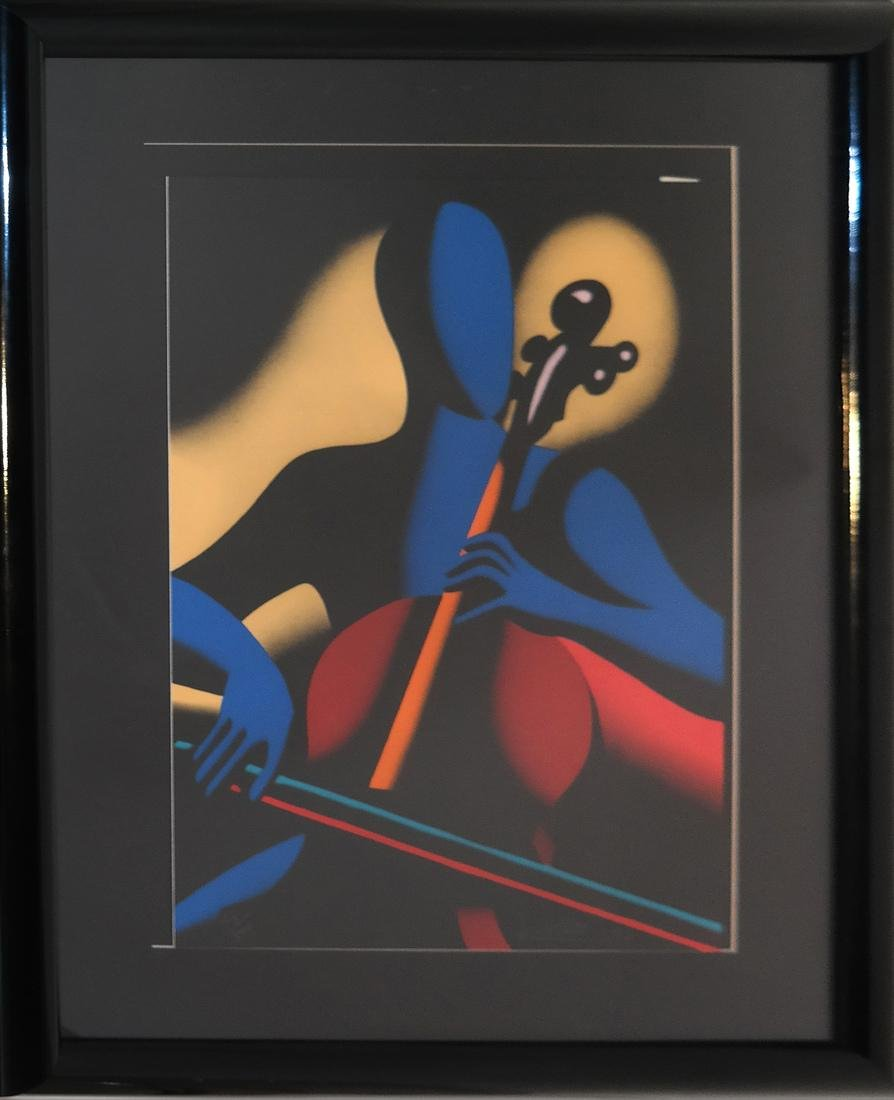 "Mark Kostabi ""The Cellist"" - Serigraph - 2"