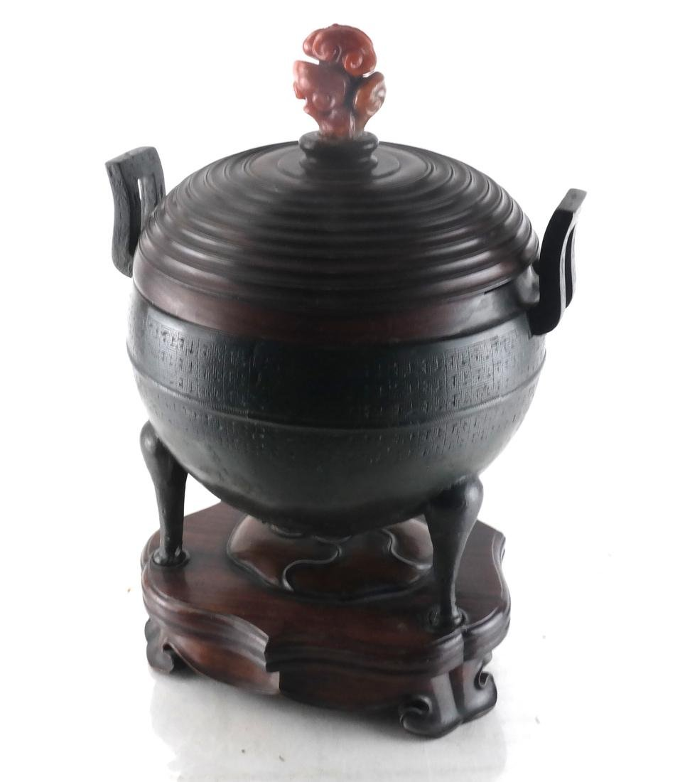 Chinese Bronze Ding Ritual Vessel