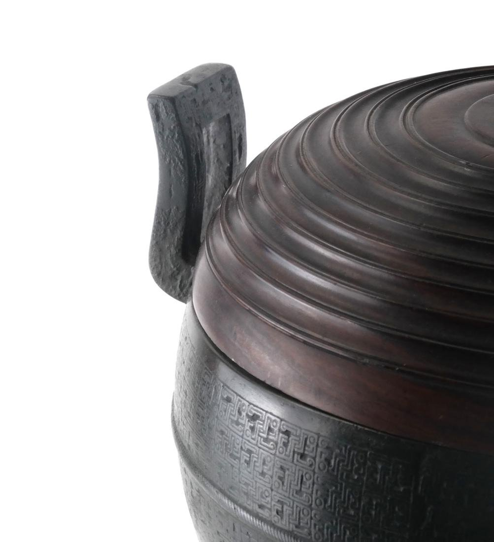 Chinese Bronze Ding Ritual Vessel - 3