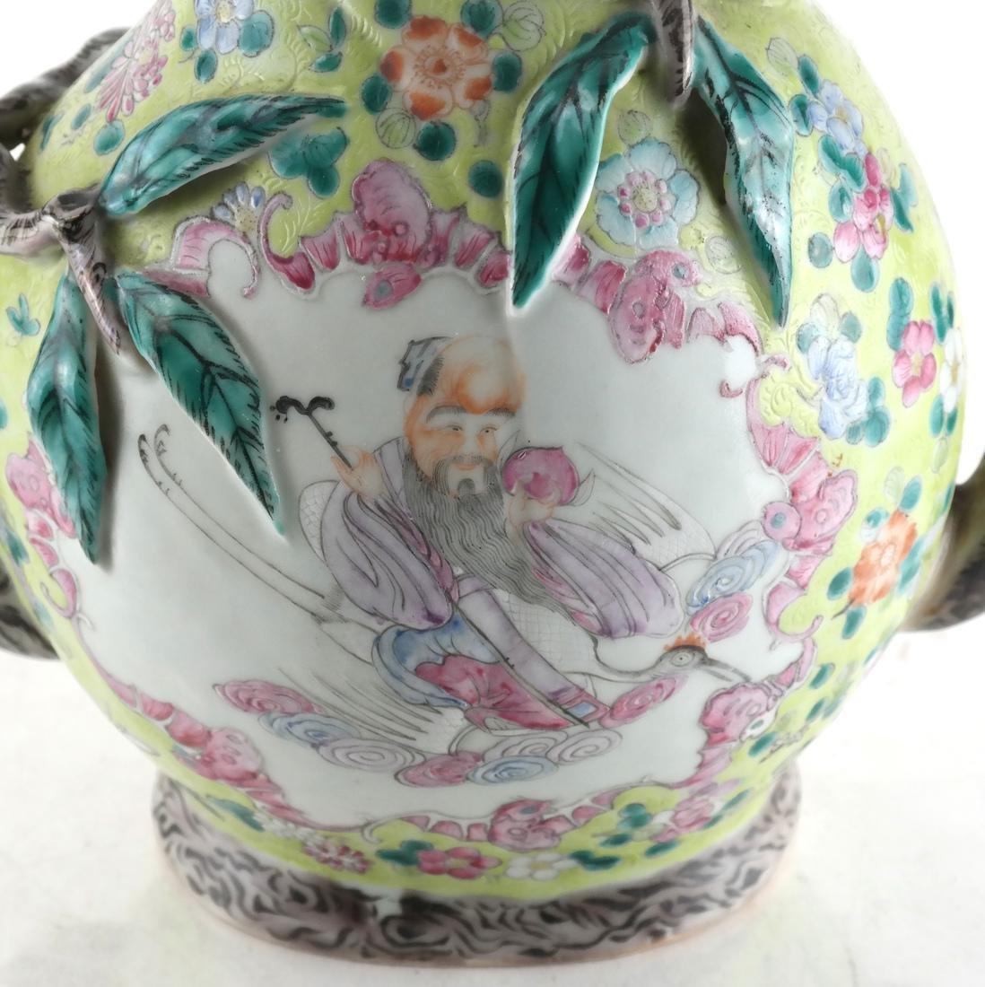 Chinese Cadogan Porcelain Famille Jaune Teapot - 5