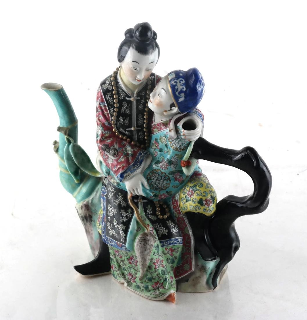 Chinese Porcelain Famille Jaune Teapot