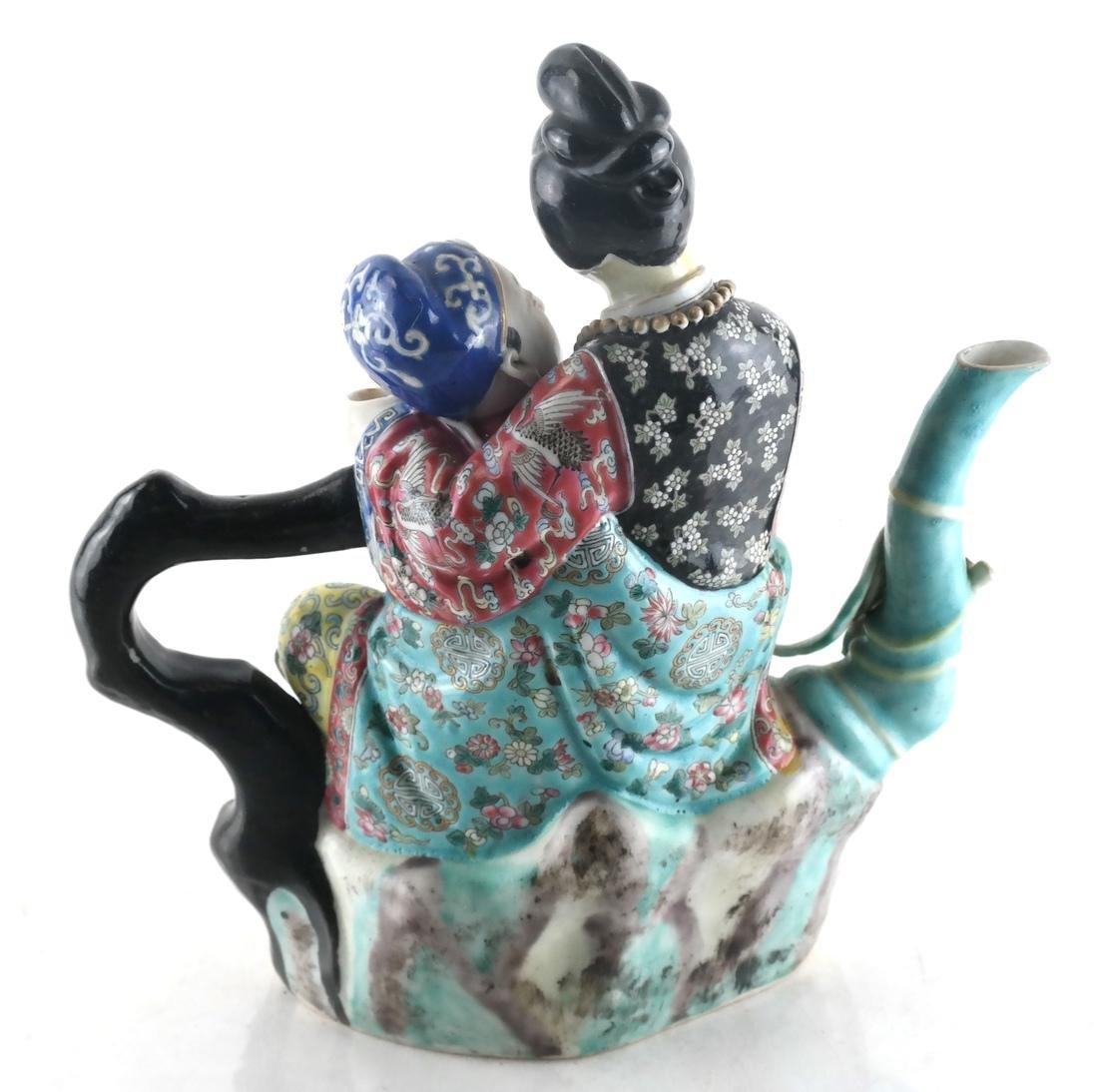 Chinese Porcelain Famille Jaune Teapot - 2