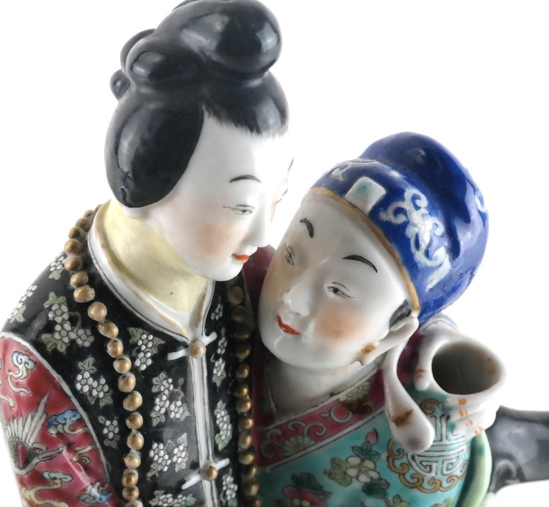 Chinese Porcelain Famille Jaune Teapot - 3