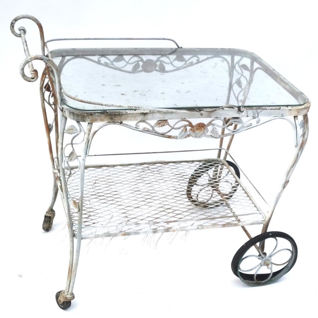 Garden Furniture: Iron Tray Trolley