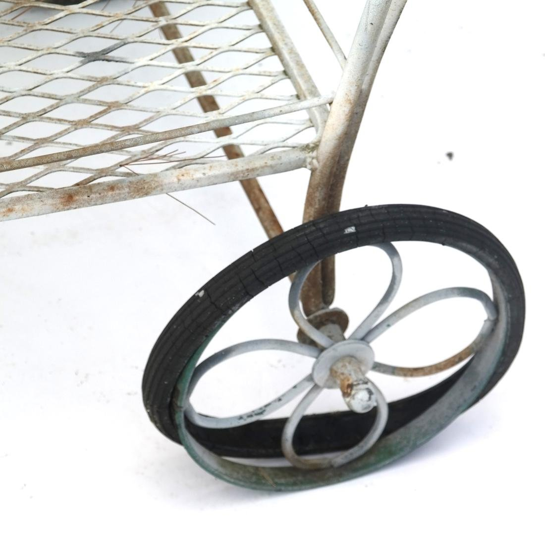 Garden Furniture: Iron Tray Trolley - 4