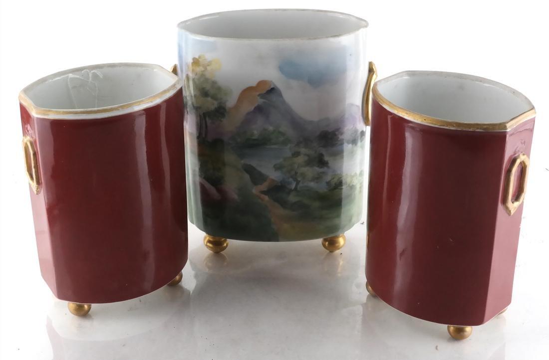 3 French Porcelain Vases, (One Limoges) - 2