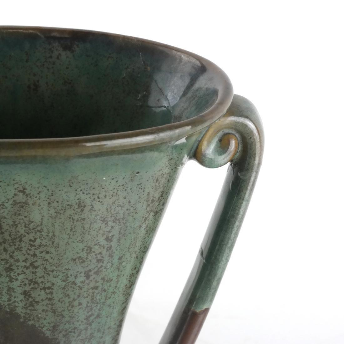 Longwy Vase & Two Others - 3