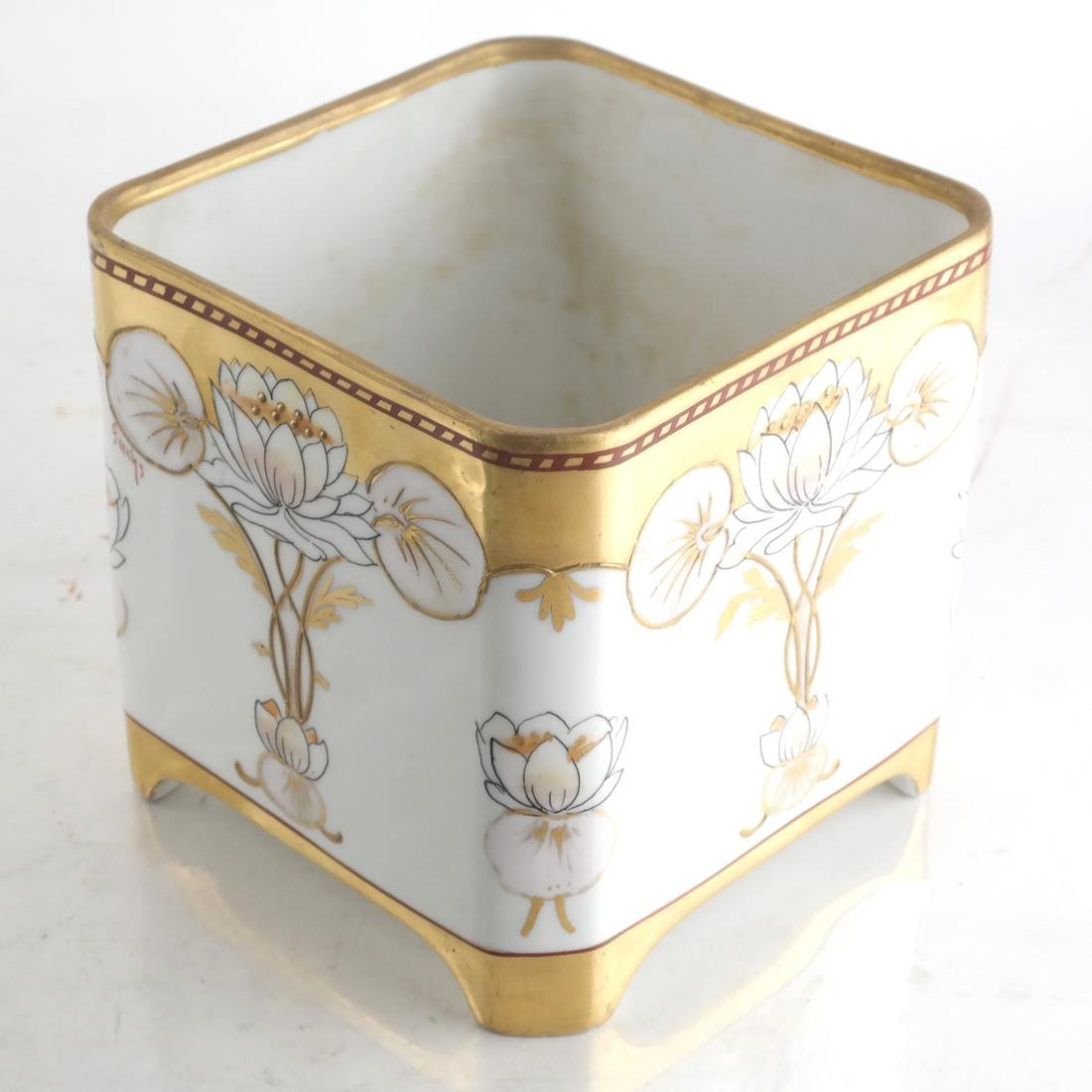 Longwy Vase & Two Others - 4
