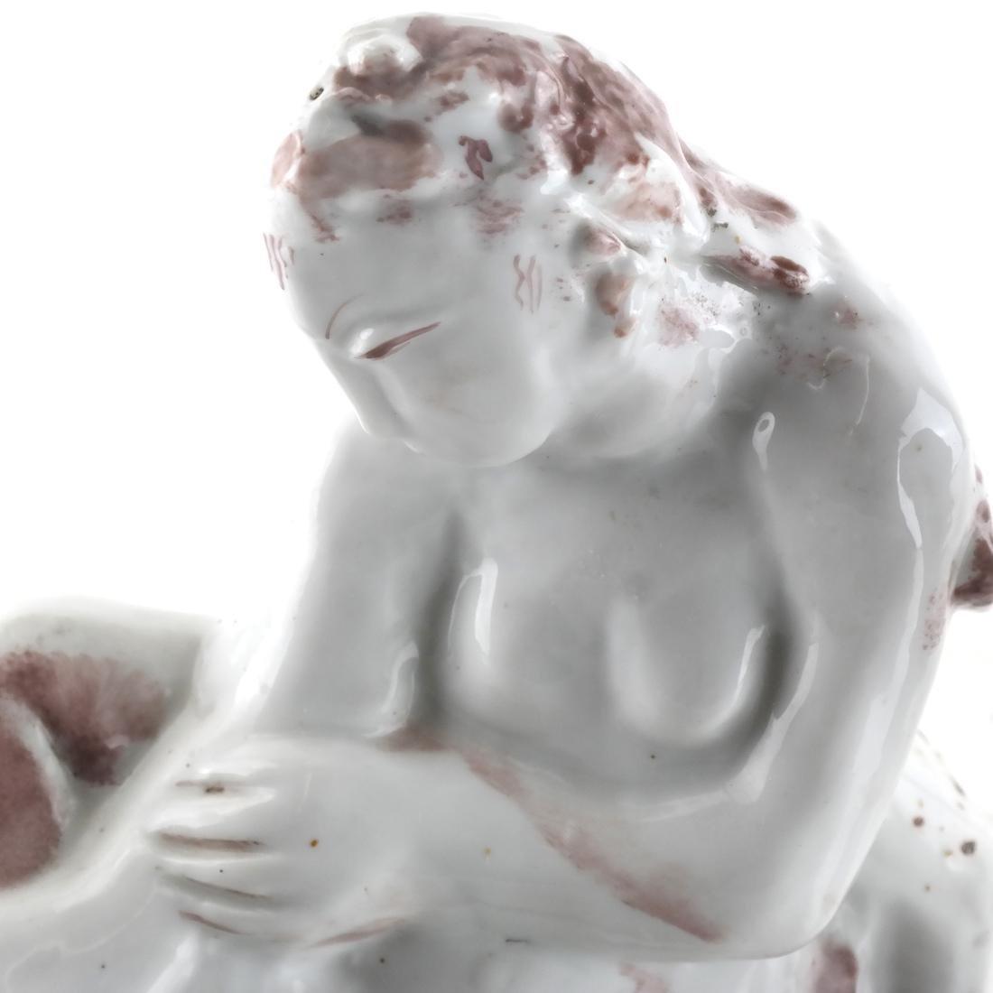 Two Ceramic Sculptures - Cat & Woman - 2