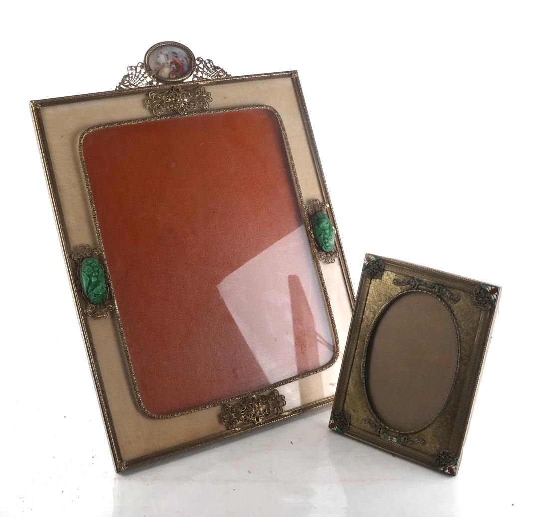 Two Metal Decorated Picture Frames