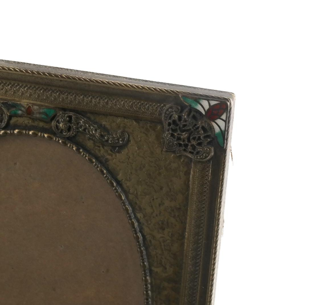 Two Metal Decorated Picture Frames - 4