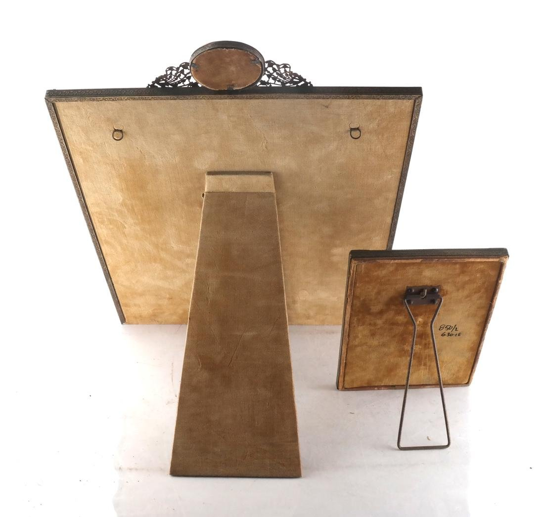Two Metal Decorated Picture Frames - 5