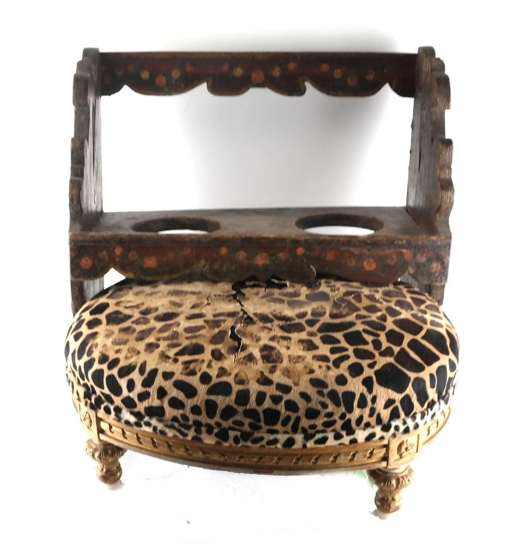 French Style Stool and Hanging Rack