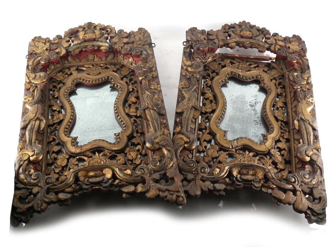 Two Tibetan-Style Ornate Mirrors