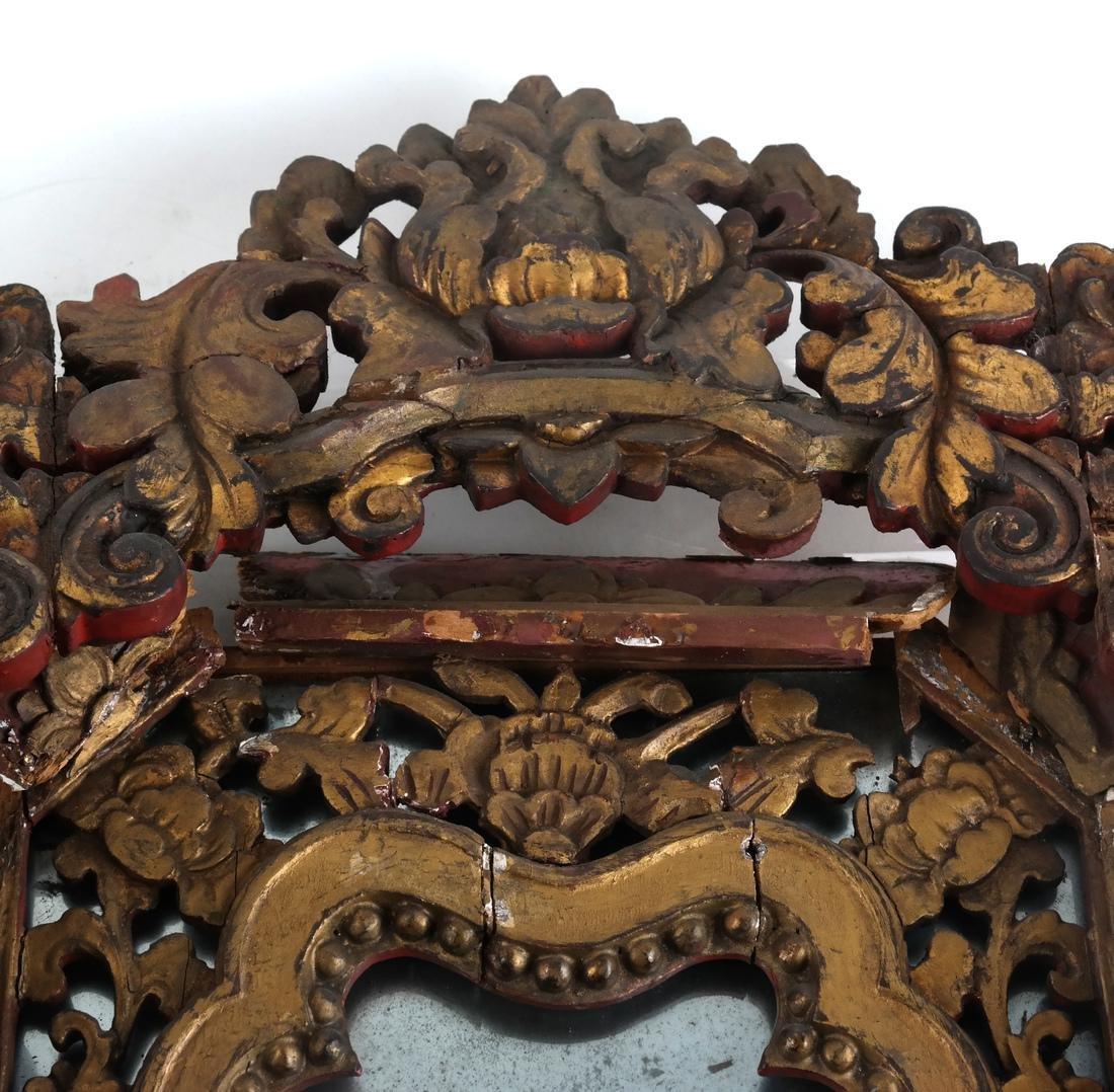 Two Tibetan-Style Ornate Mirrors - 2