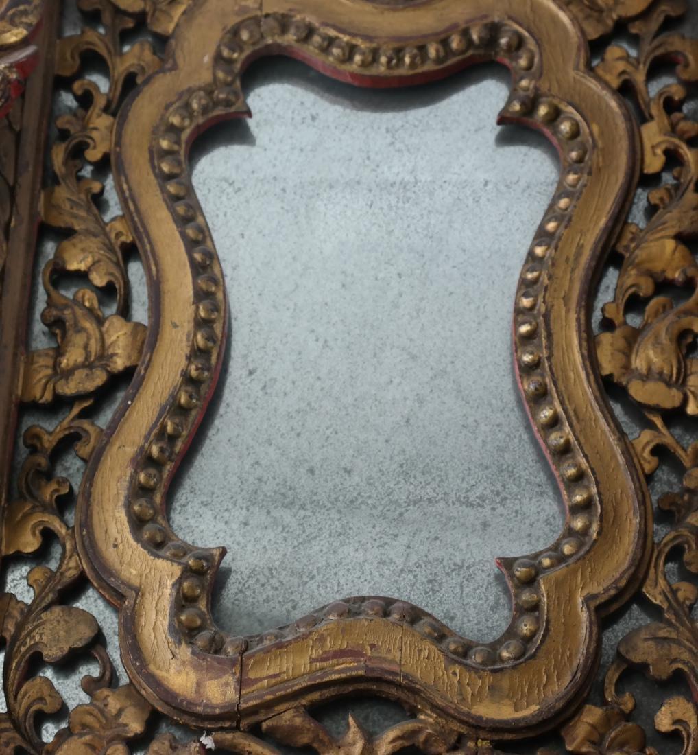 Two Tibetan-Style Ornate Mirrors - 3