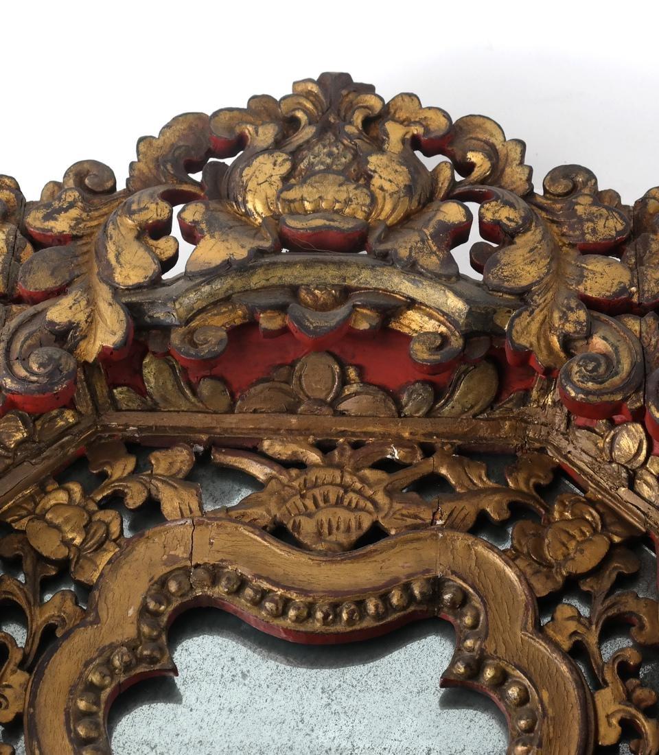 Two Tibetan-Style Ornate Mirrors - 4