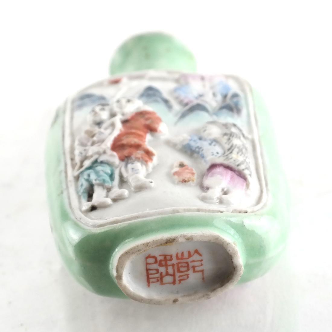 Chinese Ceramic Snuff Bottle - 3