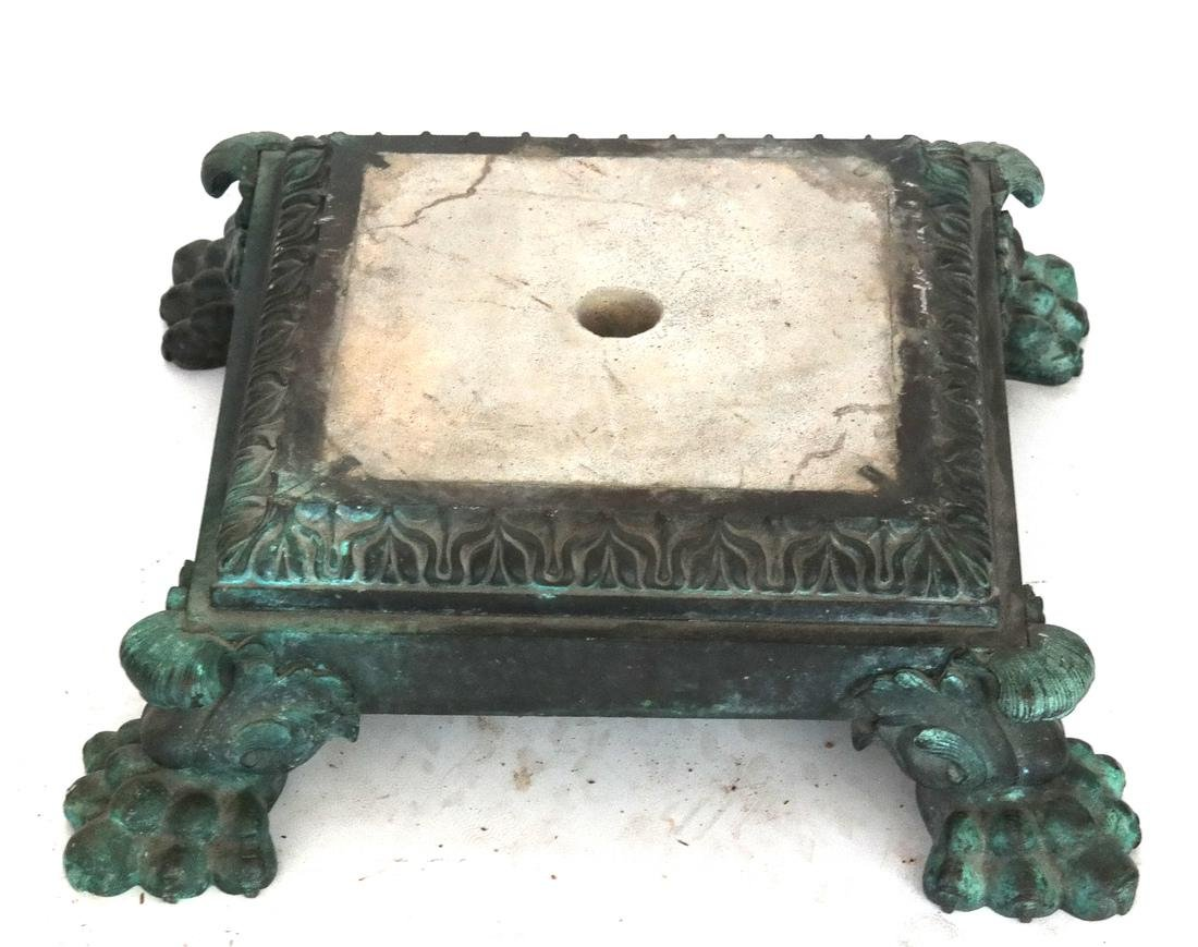 Antique Ornate Bronze Base (Only)