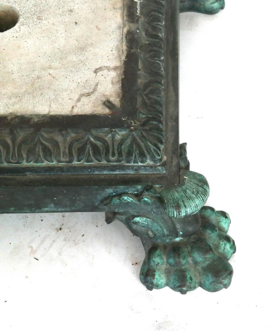 Antique Ornate Bronze Base (Only) - 2