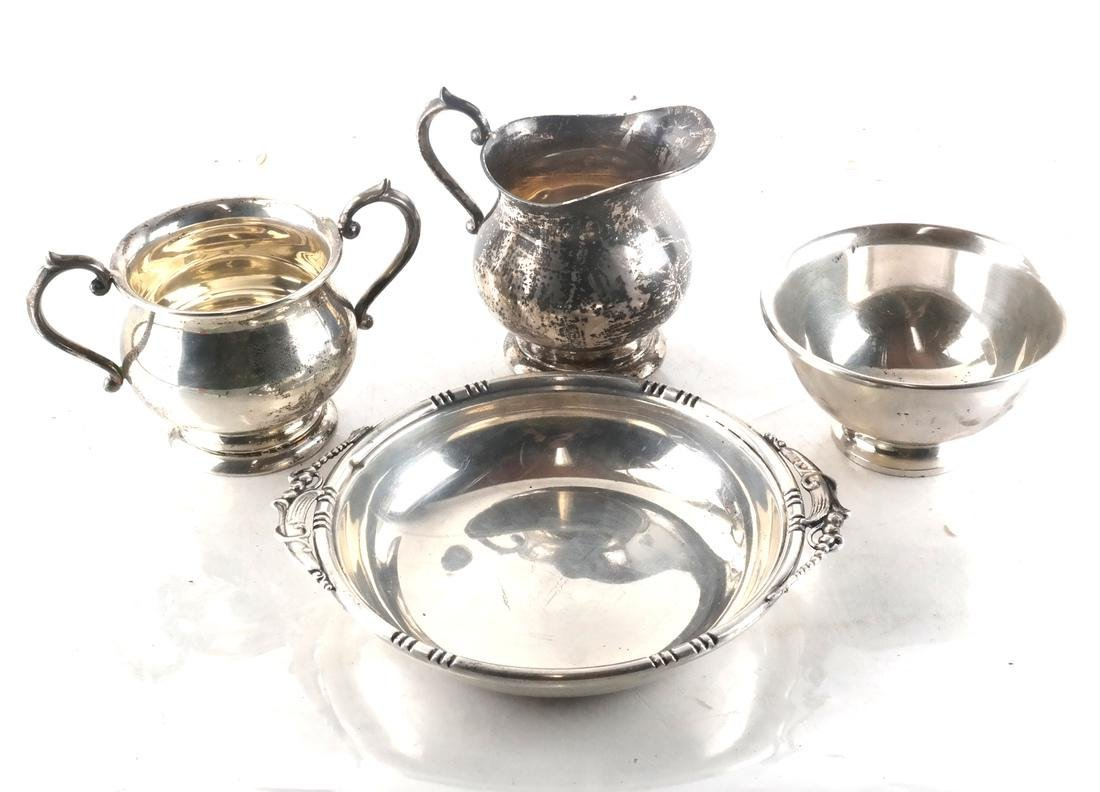 Four Sterling Silver Serving Items