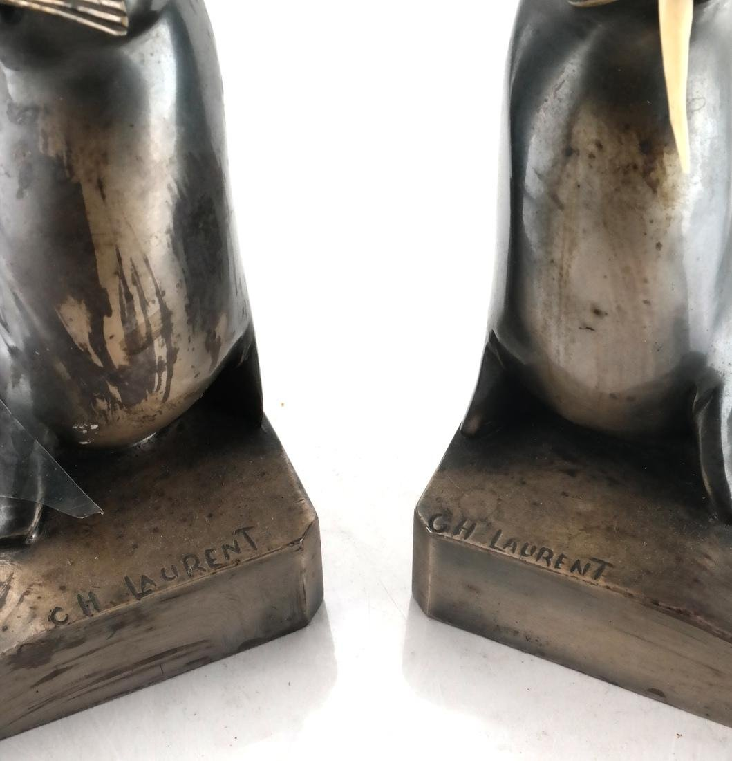 C.H. Laurent, Bronze Walrus Bookends - 3