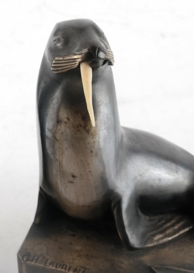 C.H. Laurent, Bronze Walrus Bookends - 4