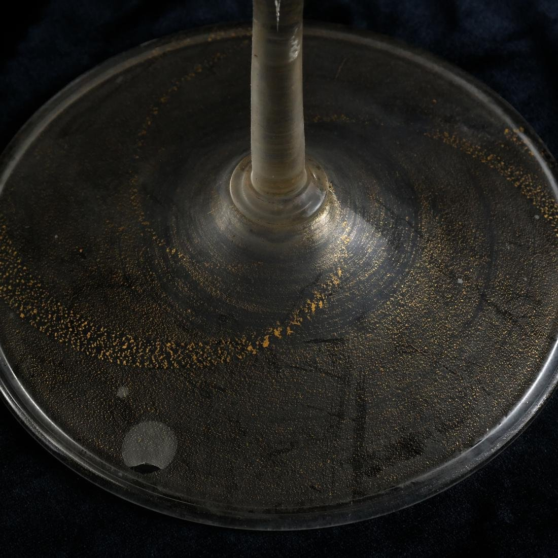 Pair Italian Glass Candlesticks - 3