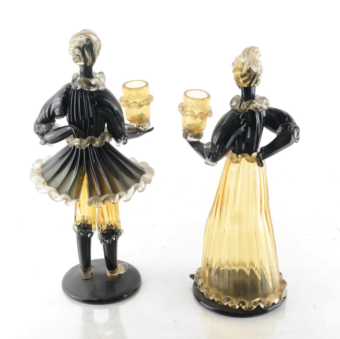 Pair of Italian Glass Bud Vases - 4
