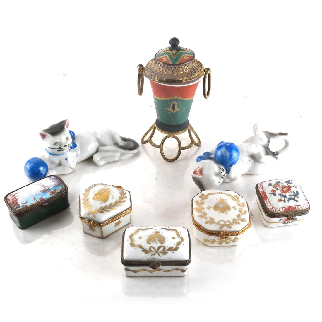 Eight Porcelain Objects
