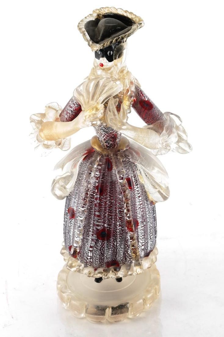 Italian Glass Figure of a Woman - 2