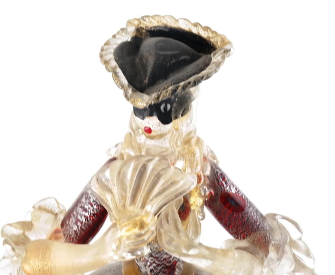 Italian Glass Figure of a Woman - 3