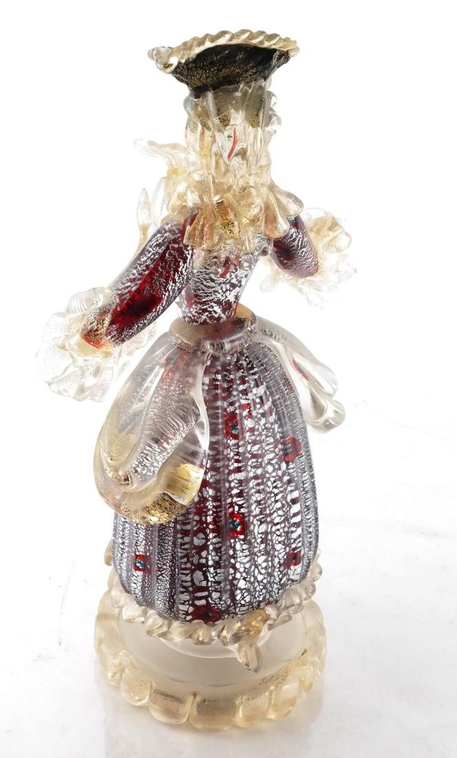 Italian Glass Figure of a Woman - 5
