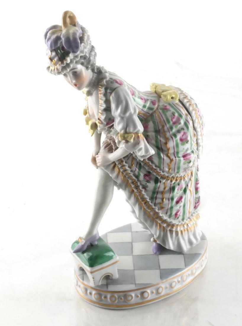 Sevres Porcelain, Woman in Dress