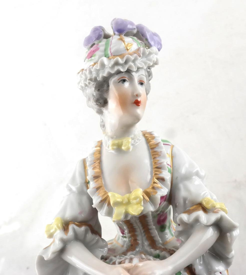 Sevres Porcelain, Woman in Dress - 4