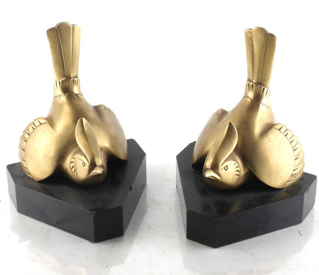 G.H. Laurent, Pair Bronze Bookends