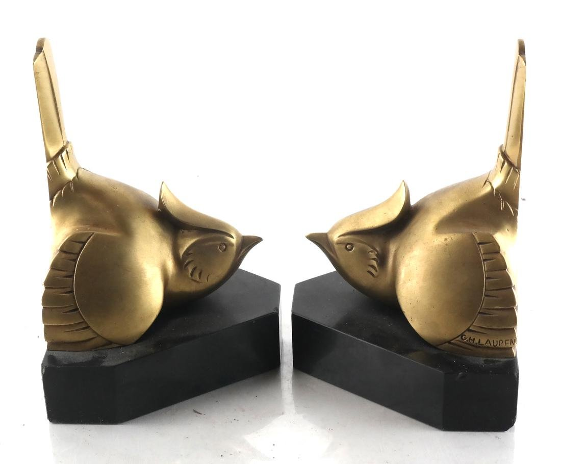 G.H. Laurent, Pair Bronze Bookends - 3
