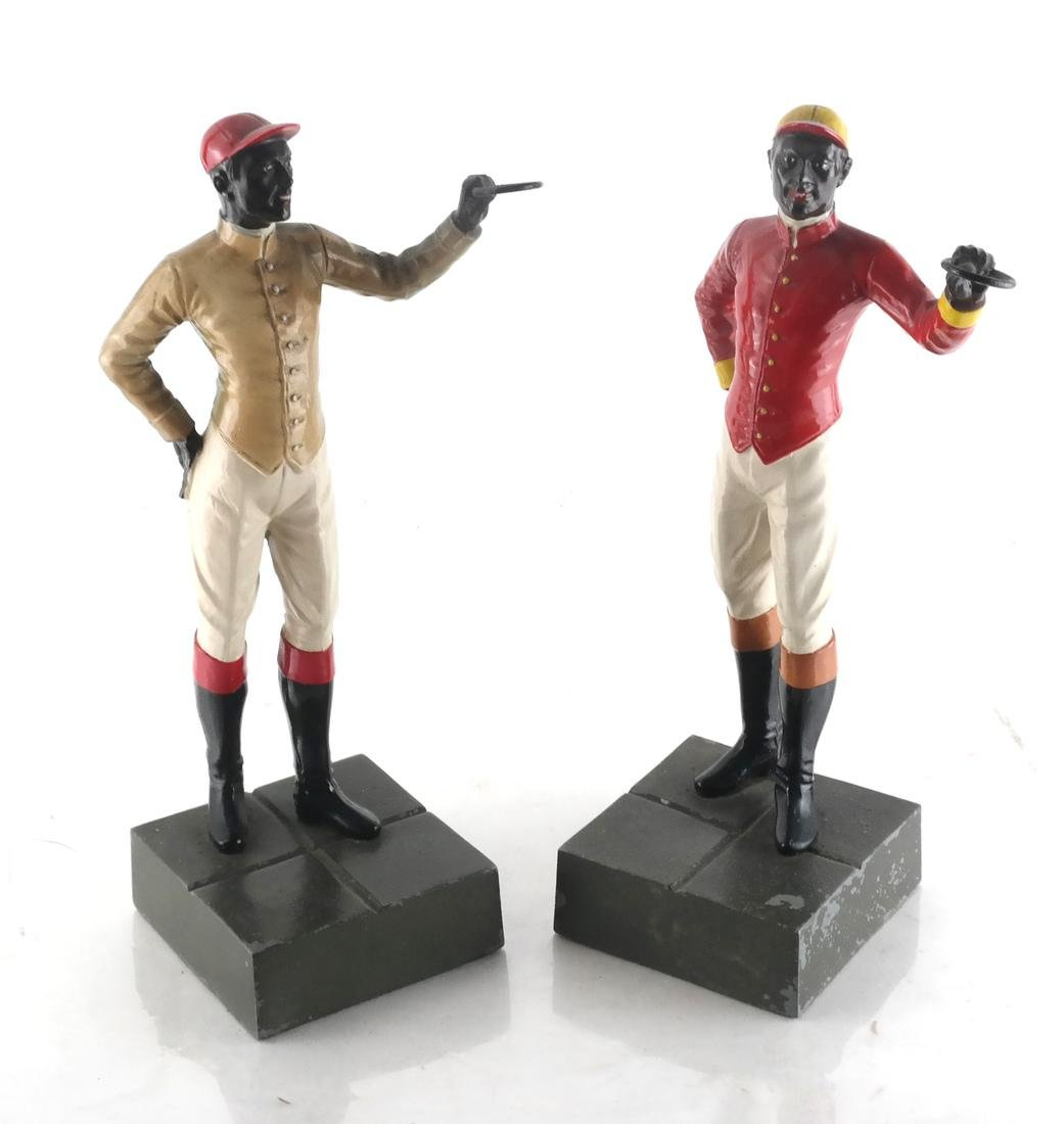 Two Polychrome Jockey Sculptures