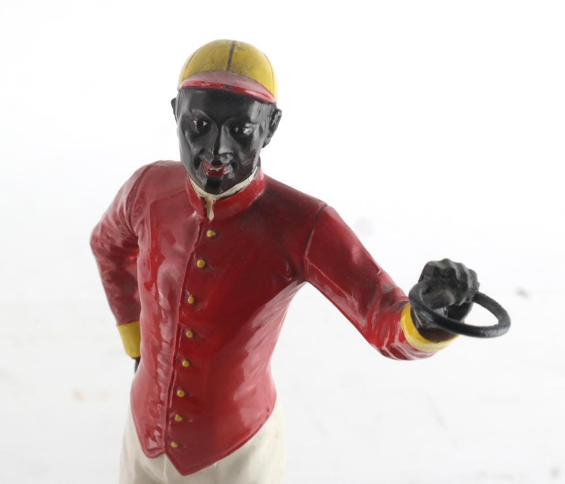 Two Polychrome Jockey Sculptures - 2