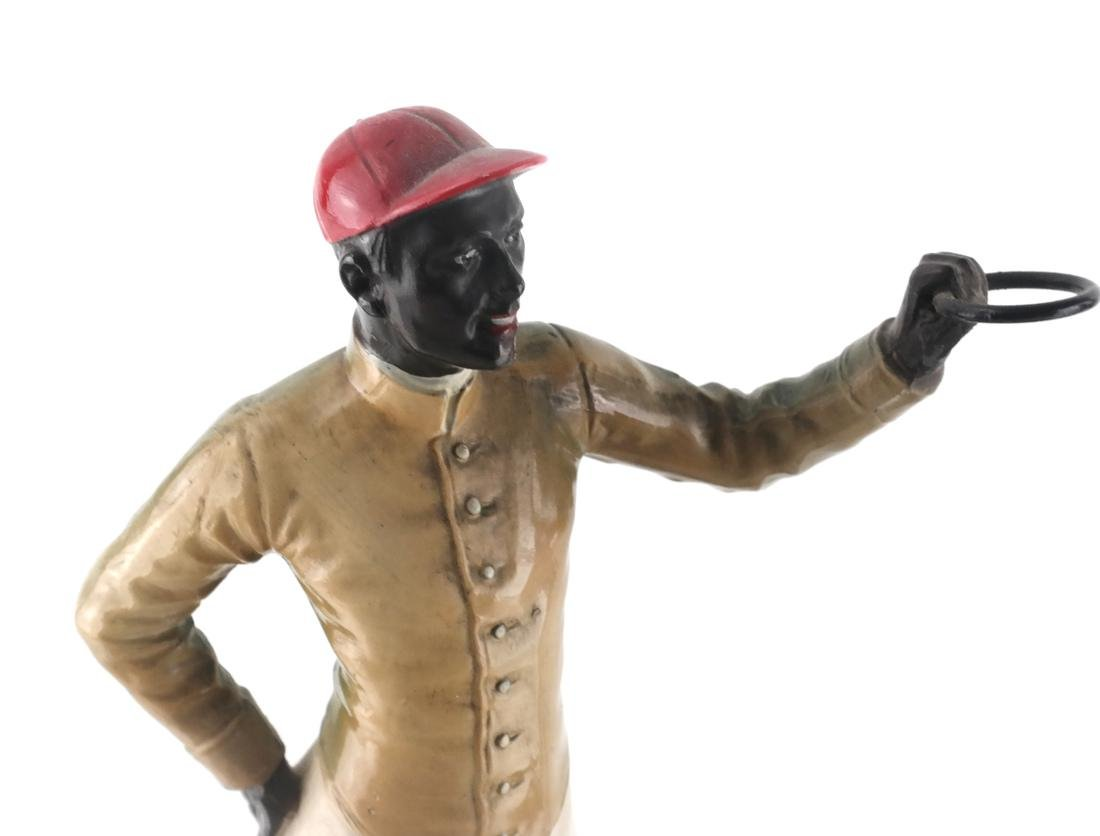 Two Polychrome Jockey Sculptures - 3