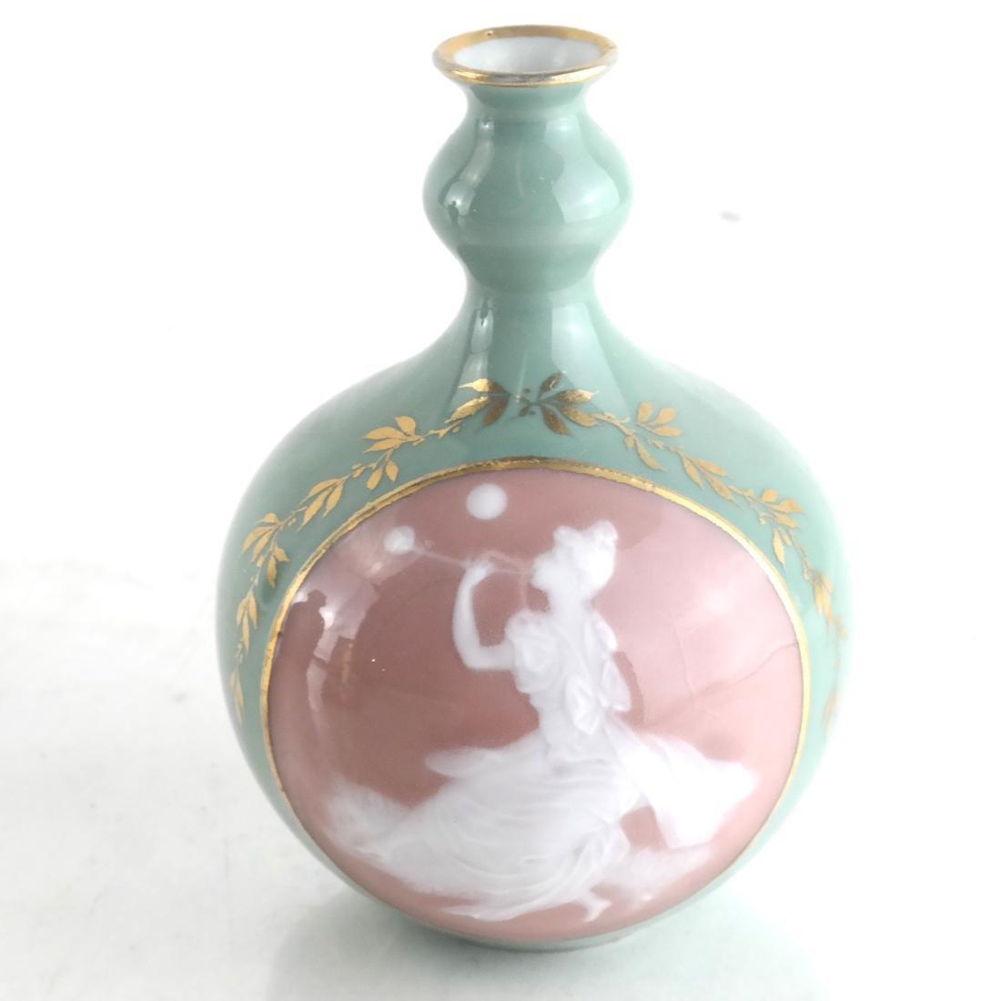 Three Decorated Porcelain Bud Vases - 2