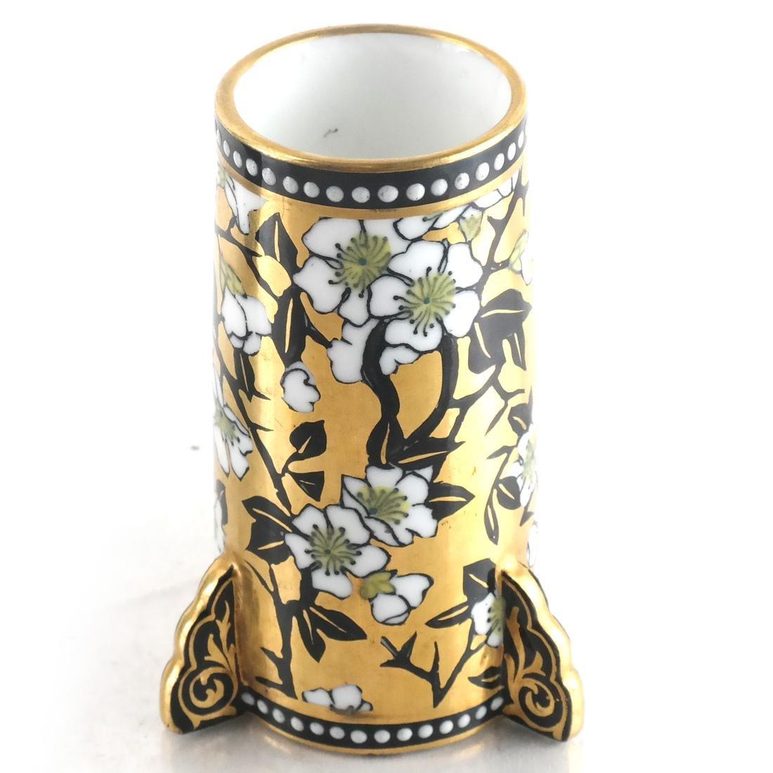 Three Decorated Porcelain Bud Vases - 4