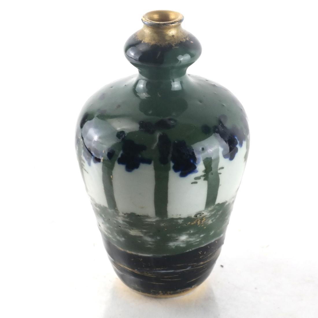 Three Decorated Porcelain Bud Vases - 6