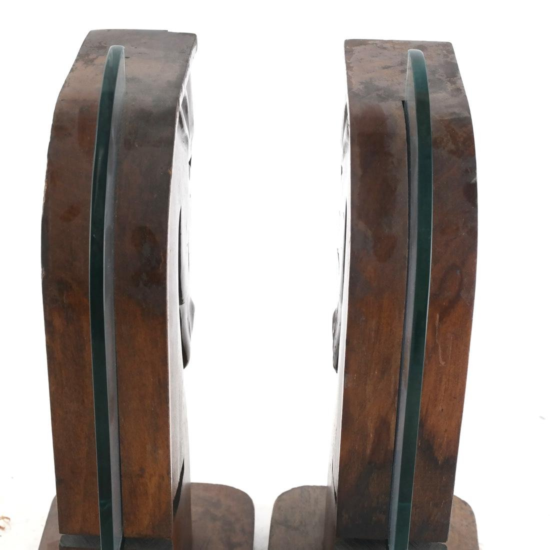 Pair of Art Moderne Horse Bookends - 4