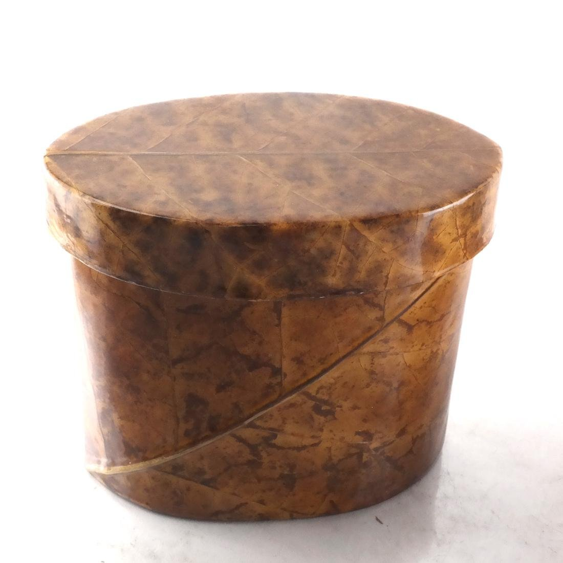 Two Burl Walnut Veneer Boxes - 3