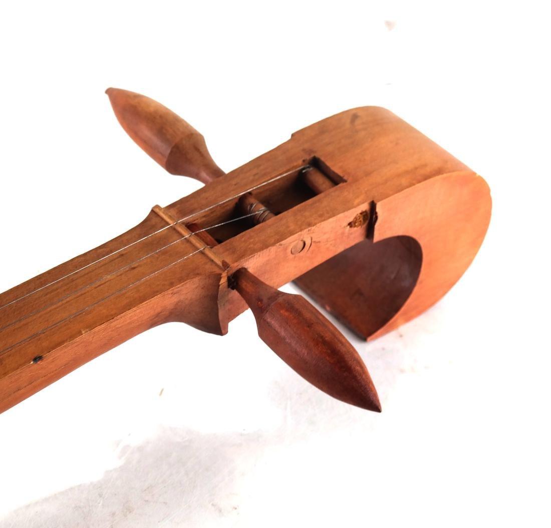 Chinese Teak Wood Lute - 3