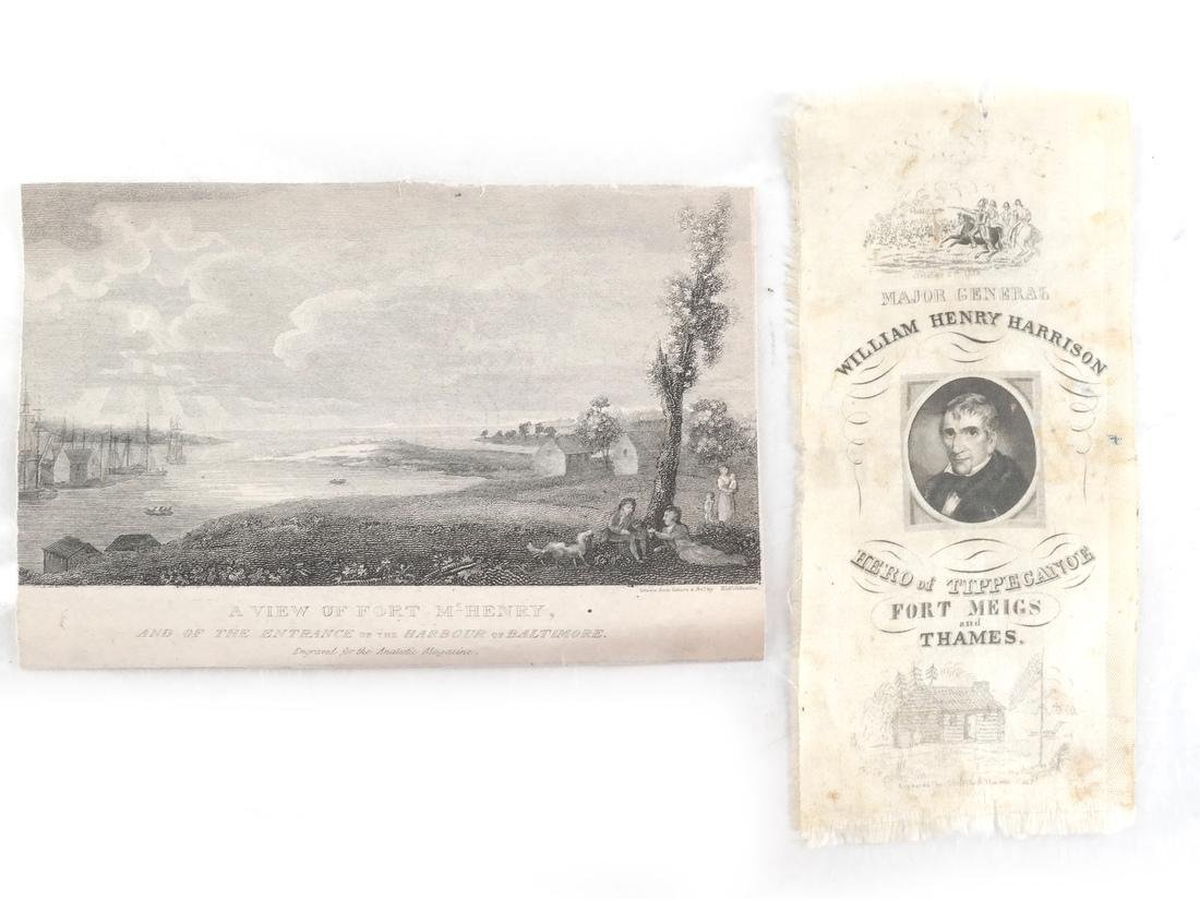 Wm. Henry Harrison Silk Campaign Ribbon