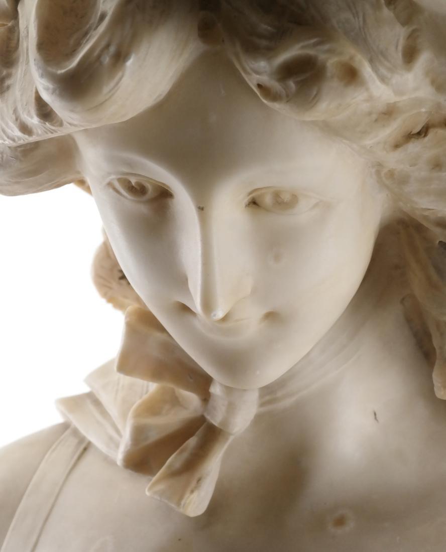 Antique Alabaster Sculpture - Woman - 2