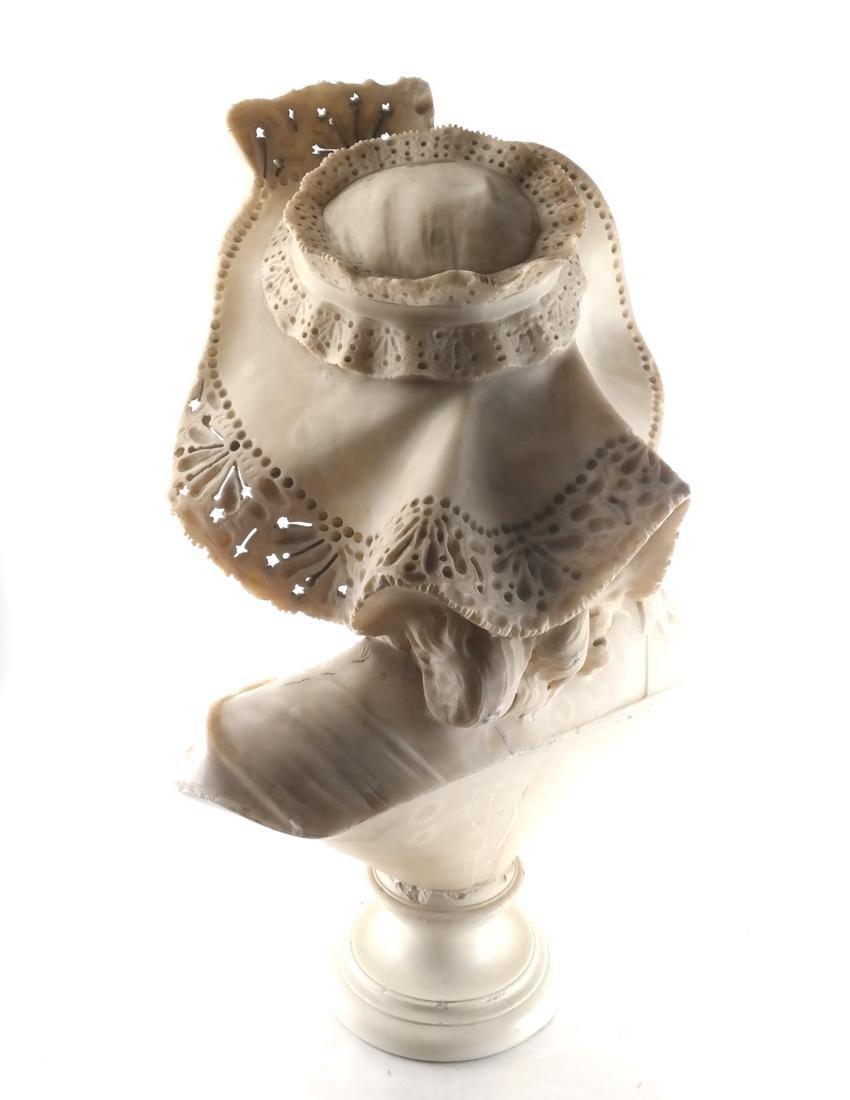 Antique Alabaster Sculpture - Woman - 5